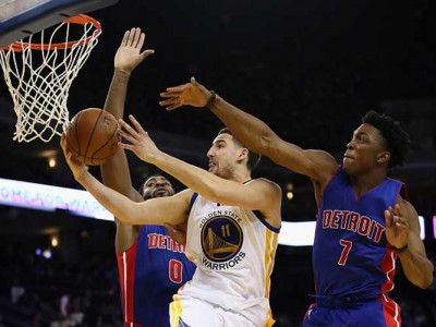 Thompson, Durant, Curry Carry Warriors To 127-107 Win Vs Pistons