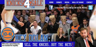 Fans Start 'Knicks 4 Sale' Website After James Dolan Letter