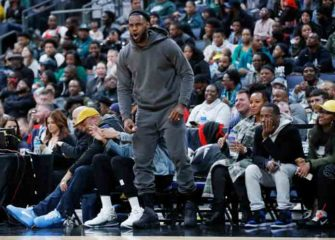 LeBron James Takes Break and Cheers On Son Bronny Against Alma Mater St. Vincent-St. Mary Irish