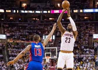 Kyrie Irving, Kevin Love Lead Cavs To 106-101 Win Over Pistons In Playoff Game 1