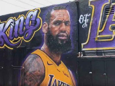 Los Angeles Artist Repaints LeBron James Mural After Second Act Of Vandalism