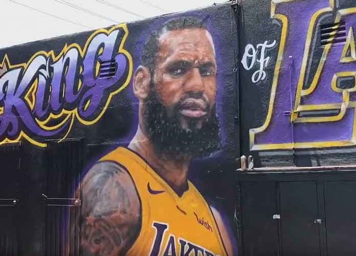 Los Angeles Artist Repaints LeBron James Mural After Second Act Of Vandalism