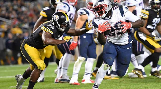 LeGarrette Blount, Patriots Beat Steelers 27-16