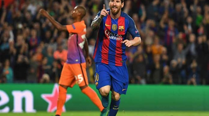 Lionel Messi's Hat-Trick Leads Barcelona To 4-0 Win Over Manchester City