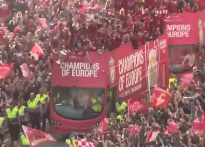 Liverpool Win Sixth UEFA Trophy; 750,000 Fans Show For Parade