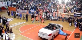 Lloyd Hickinson Fails Spectacularly At Dunking Over Car