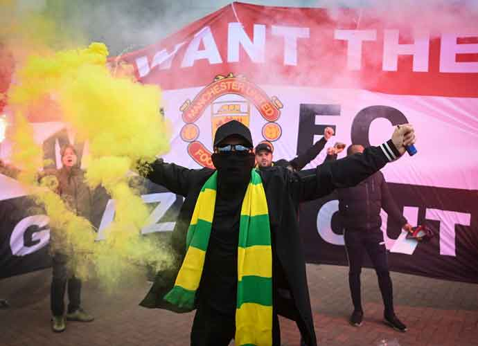 Manchester United Fans Storm Old Trafford In Protest Against Glazer Team Ownership