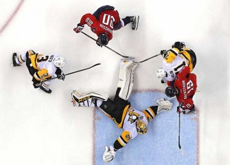 Watch: Marc-Andre Fleury Makes Several Late Saves, Penguins Top Capitals 3-2 In Game 1, Round 2