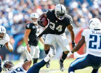 Watch: Raiders' Marshawn Lynch Races Past Titans' Jurrell Casey