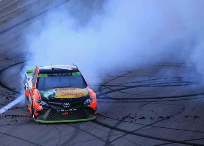 Watch: Martin Truex Jr. Earns Emotional Playoff Win At Kansas, Honors Late Team Member Jim Watson