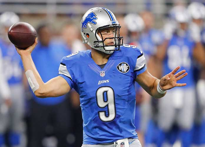 Lions' Matt Stafford Misses Practice With Back Injury