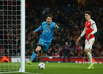 Arsenal Fall 2-0 To Barcelona In Champions League Round Of 16, Game 1