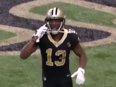 Saints' Michael Thomas Fakes Phone Call For TD Celebration After Putting Rams To Bed