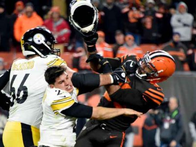 Browns' Myles Garrett Reinstated, Says Steelers' Mason Rudolph Used Racial Slur in November Brawl