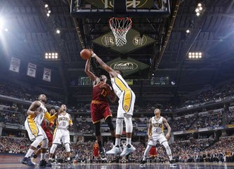 Pacers' Myles Turner Drives The Lane For Dunk Vs. Cavs