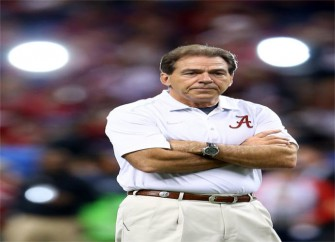 Nick Saban Directs Questions About Kirby Smart To His Coke Bottle