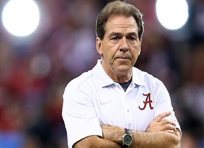 Nick Saban Gets Scared By Train Horn Ring Tone During His Press Conference