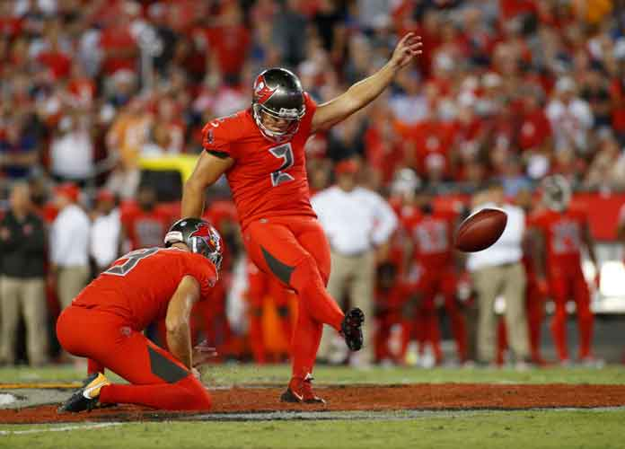Watch: Bucs' Nick Folk Misses Three Field Goals In Loss To Patriots, Twitter Reacts