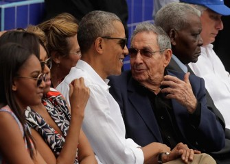 Presidents Barack Obama, Raul Castro Watch Rays Beat Cuban National Team
