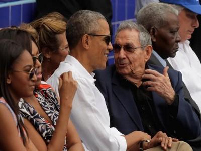 Presidents Barack Obama, Raul Castro Watch Rays Beat Cuban National Team