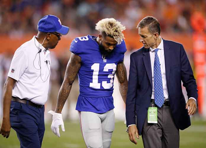Odell Beckham Jr. On Ankle Hit In Giants' Loss To Browns: 'It's Just Football'