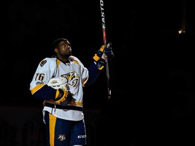 Predators' P.K. Subban Says Knights' Pierre-Edouard Bellemare Bit His Finger During A Scuffle