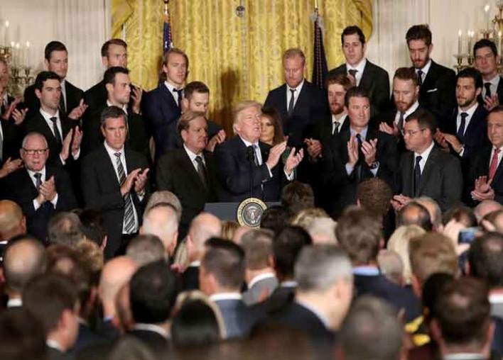 Trump Calls Penguins 'Incredible Patriots' During White House Visit