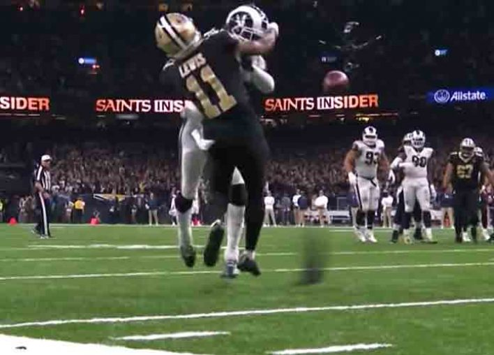 NFL Admits Blown Late Pass Interference, Helmet-To-Helmet No-Calls In Rams' 26-23 OT Win Vs. Saints