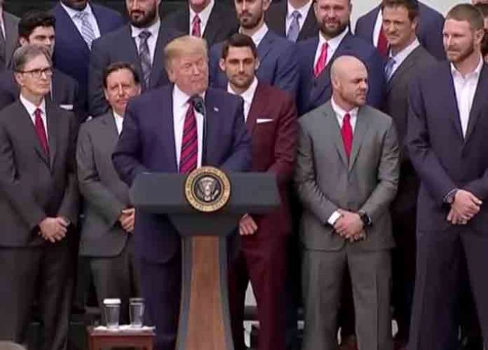 Trump Takes Credit For Boston Red Sox' Turnaround After White House Visit