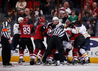 Coyotes And Sabres Brawl After The Final Whistle