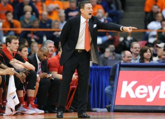 UNC Fan Ejected After Halftime Verbal Exchange With Louisville Coach Rick Pitino