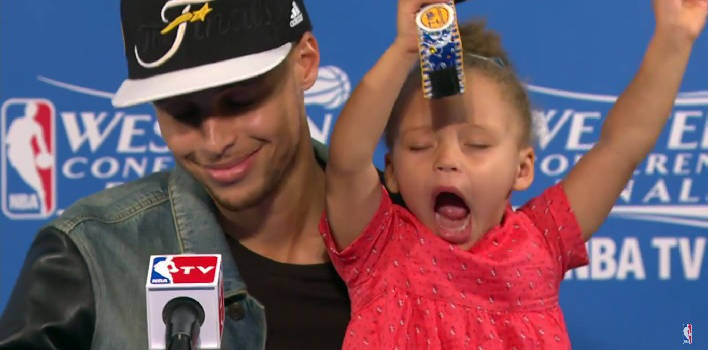 Riley Curry Steals Another Show At Post-Game Press Conference