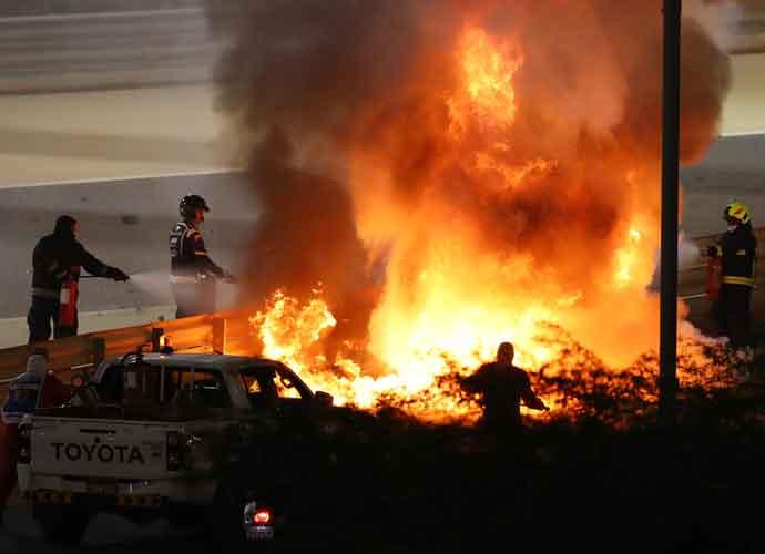 Roman Grosjean Ok After Fiery Crash During Bahrain Grand Prix