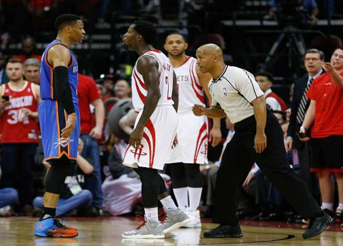 Watch: Russell Westbrook, Patrick Beverley Argue In Rockets' 105-99 Game 5 Elimination Of Thunder