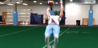 North Carolina's Ryan Switzer Makes A Backflip Catch Look Easy