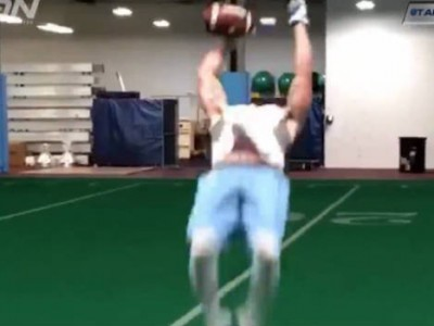 North Carolina's Ryan Switzer Makes A Backflip Catch Look Easy
