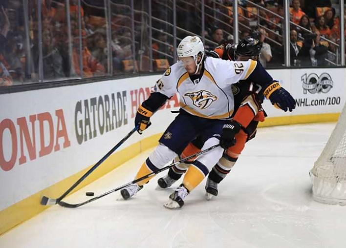 Predators' Ryan Johansen Calls out Ducks' Ryan Kesler After Elbow To Head In Game 2: (Watch Hit)