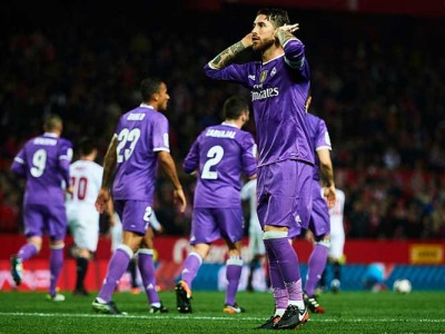 Real Madrid Defends Sergio Ramos Over Controversial Goal Celebration Vs Sevilla