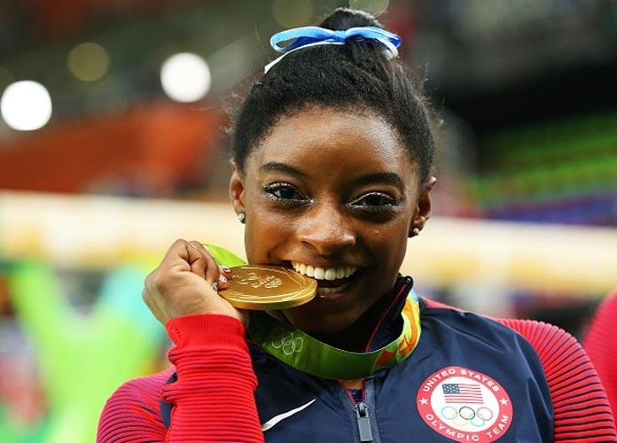 Simone Biles Wins Gold In Women's Vault And Bronze In Balance Beam