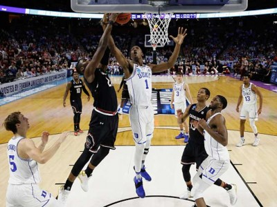 NCAA Tournament Weekend Recap: South Carolina Beats No. 2 Seed Duke 88-81, Michigan Tops No. 2 Seed Louisville, and More