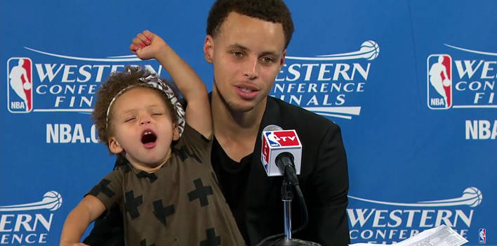 Steph Curry's Daughter Shines In Post-Game Press Conference