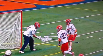 Syracuse Lacrosse Fools Virginia With Hidden Ball Trick [Cool Video]