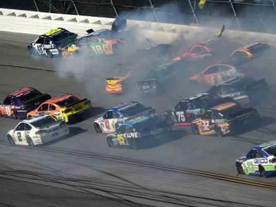 Watch: Huge Crash At Talladega Involving 16 Drivers Rattles NASCAR Playoffs