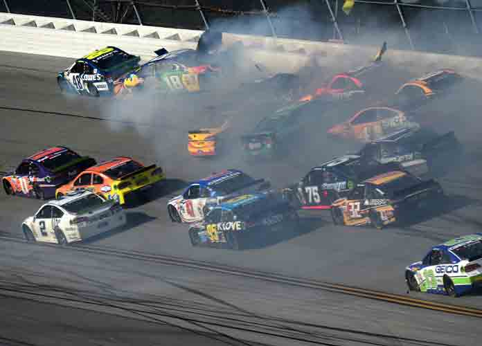 Watch: Huge Crash At Talladega Involving 16 Drivers Rattles NASCAR Playoffs