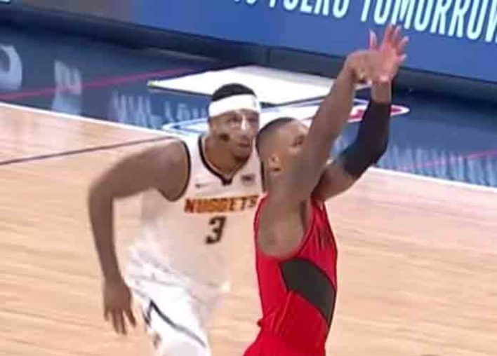 Nuggets' Torrey Craig Knocked Down, Gets Bloodied Face In 97-90 Game 2 Loss To Blazers [VIDEO]