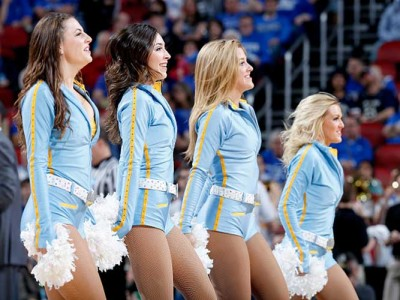 UCLA Cheerleader Takes Two Hard Falls Within Seconds During Game Vs. Oregon