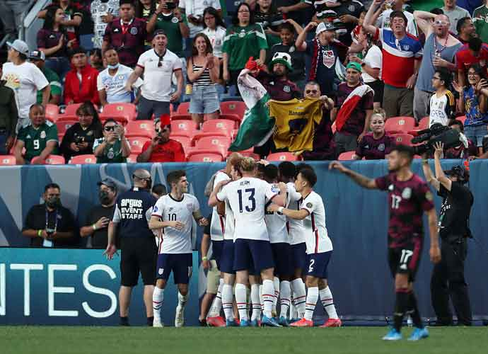CONCACAF Nations League Final Between USMNT & Mexico Disrupted By Fans