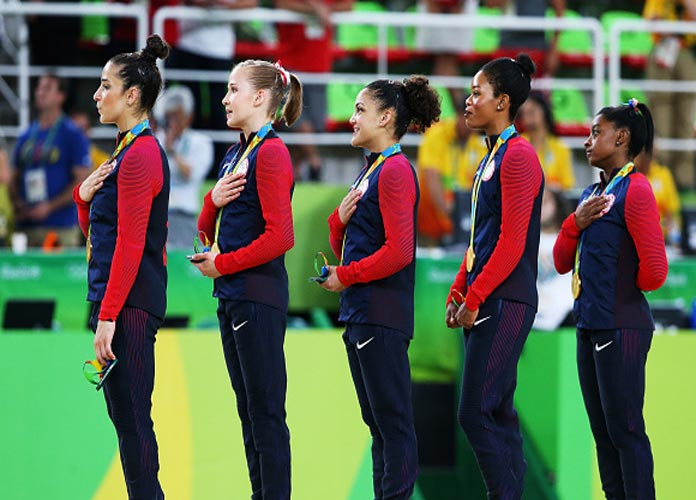 Gabby Douglas Apologizes After Twitter Reacts To Her Not Placing Hand On Heart During National Anthem