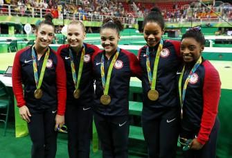U.S. Gymnastics Team, Led By Simone Biles, Win Gold In Rio