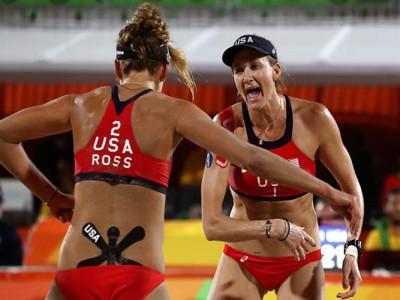 Kerri Walsh Jennings, April Ross Eliminate Australia To Advance To Volleyball Semifinals